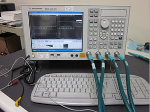 We perform a variety of electrical testing, Including USB 2.0 and USB 3.0 testing. This is a vector network analyzer capable of testing up to 20GHz.